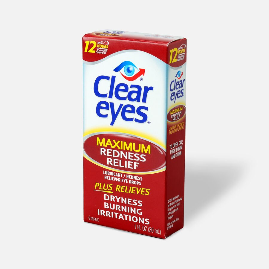 Clear Eyes Max Redness Relief Drops, 1 oz, , large image number 1