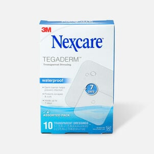 Nexcare Tegaderm Waterproof Transparent Dressing Assorted Pack - 10ct