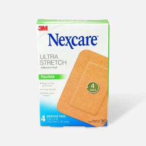 "Nexcare Soft Fabric Adhesive Gauze Pad 3""x4"", 4 ea"