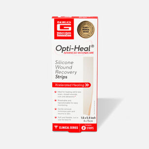 """Neo G Silicone Wound Recovery Strips, 1.6""""x 5.9"""" – 6 ct"""
