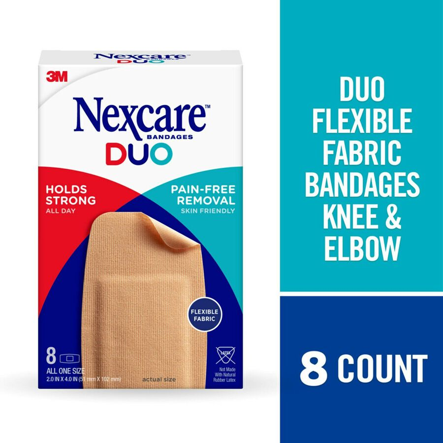 Nexcare DUO Bandage, Knee and Elbow, 8ct, , large image number 1
