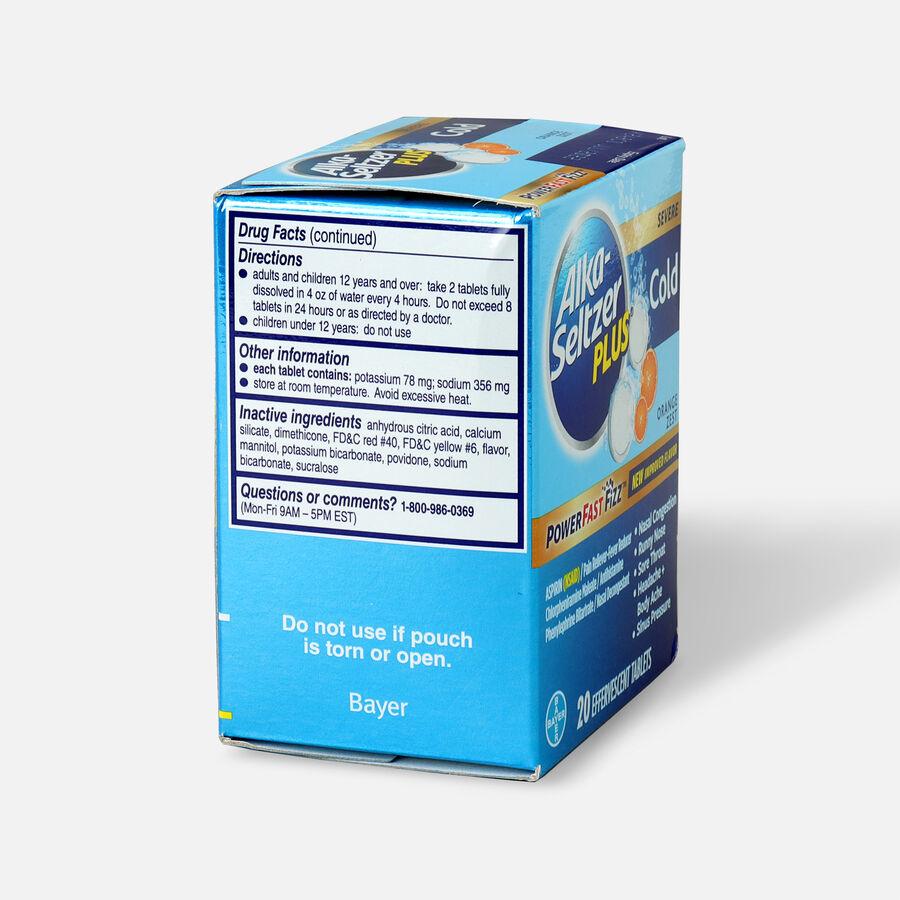 Alka-Seltzer Plus Cold PowerFast Fizz, Effervescent Tablets, Orange Zest, 20ct, , large image number 4