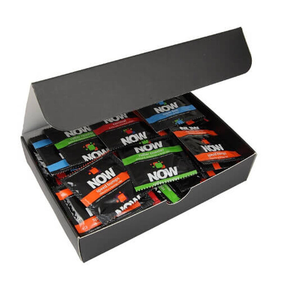 NOW Spice of Life - Pleasure Pack Condoms Cigar Box, 50 ea, , large image number 2