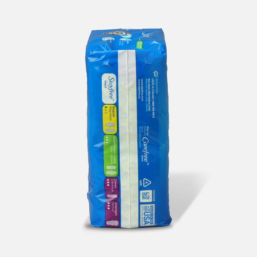 Stayfree Maxi Pads Super Long with Wings, 16ct, , large image number 1