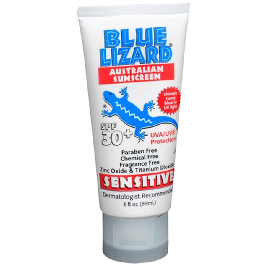 Blue Lizard Sensitive Australian Sunscreen, SPF 30+, 3 fl oz, , large image number 0