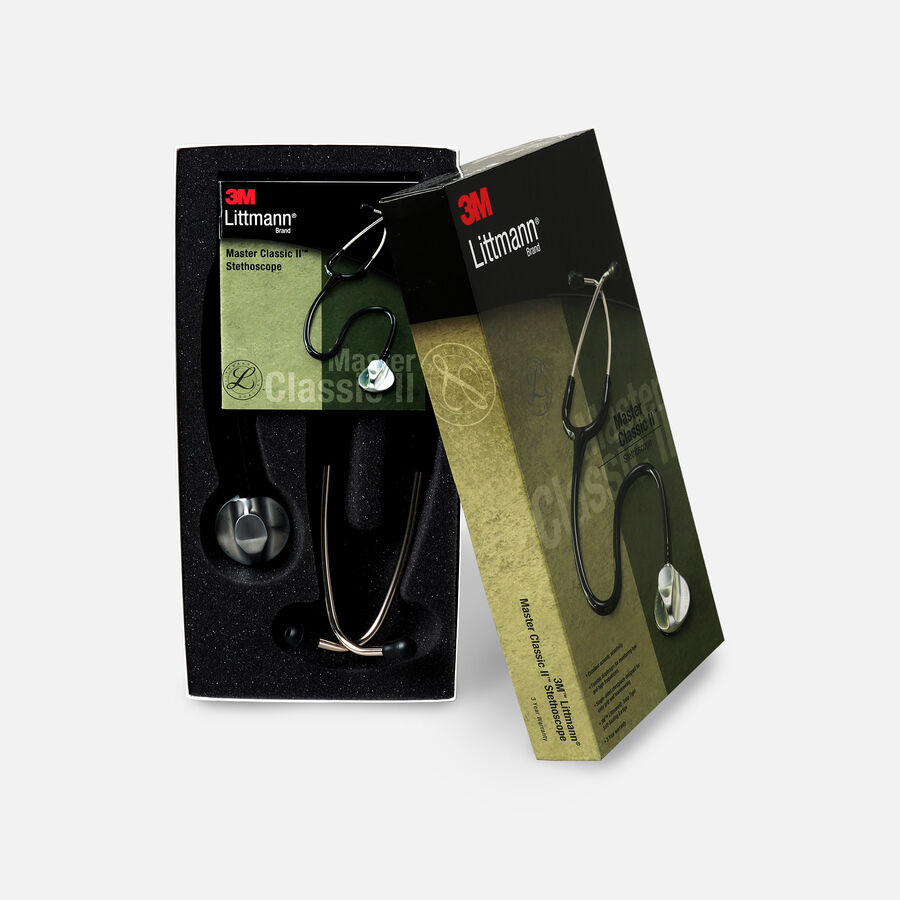 """3M Littman Master Classic II Stethoscope, Black Tube, 27"""", , large image number 2"""