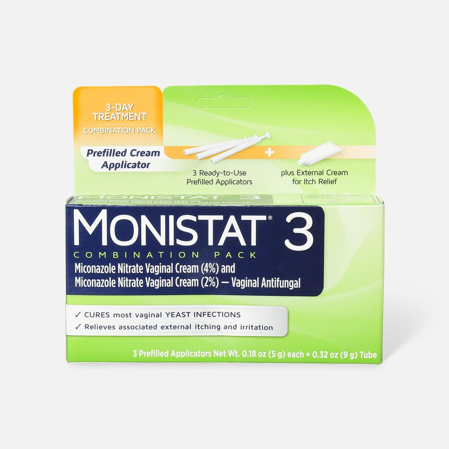 Monistat 3, Cure and Itch Relief, Prefilled Cream, , large image number 0