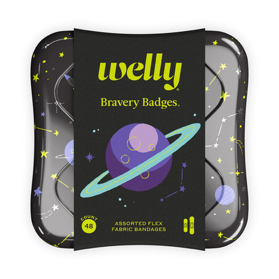 Welly Bravery Badges Space Assorted Flex Fabric Bandages - 48ct, , large image number 0