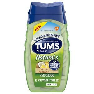 TUMS Naturals Ultra Strength Chewable Tablets, 56 ct