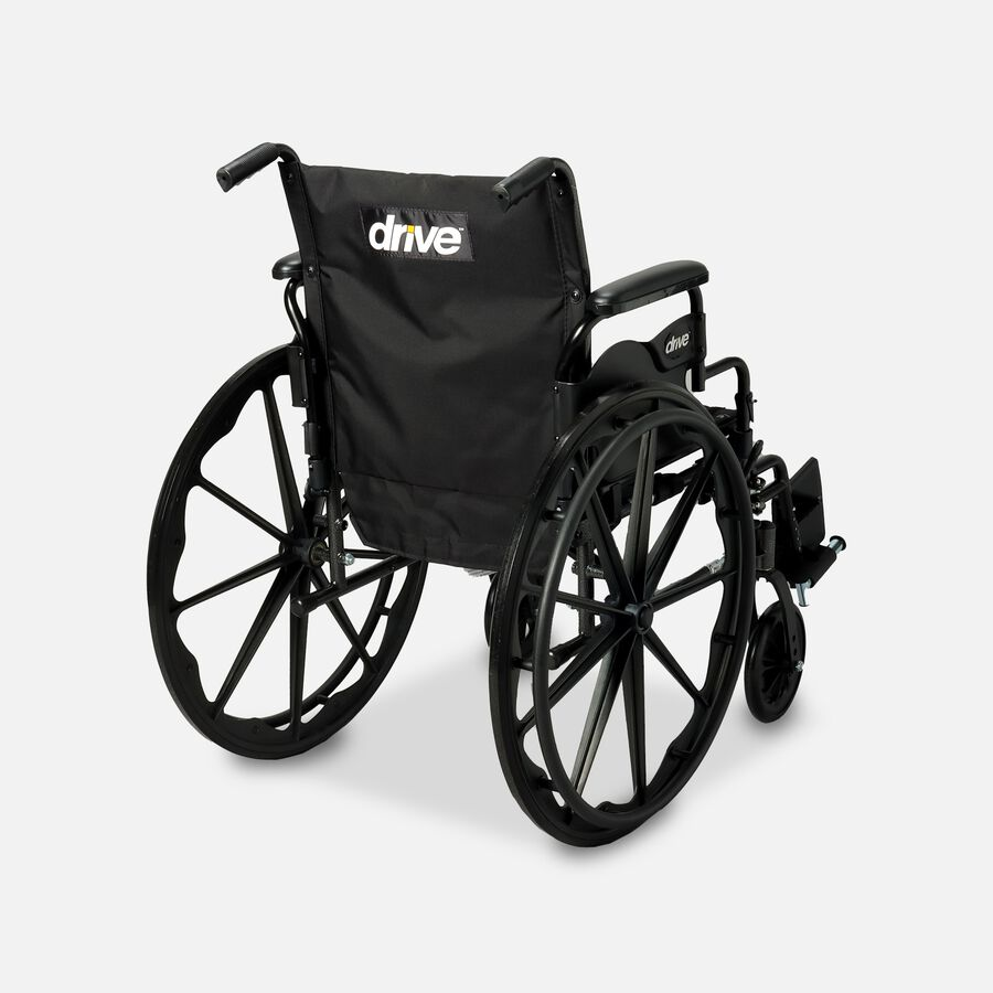 """Drive Cruiser III Lightweight Wheelchair, Swing Away Footrests, 18"""", Black, , large image number 1"""