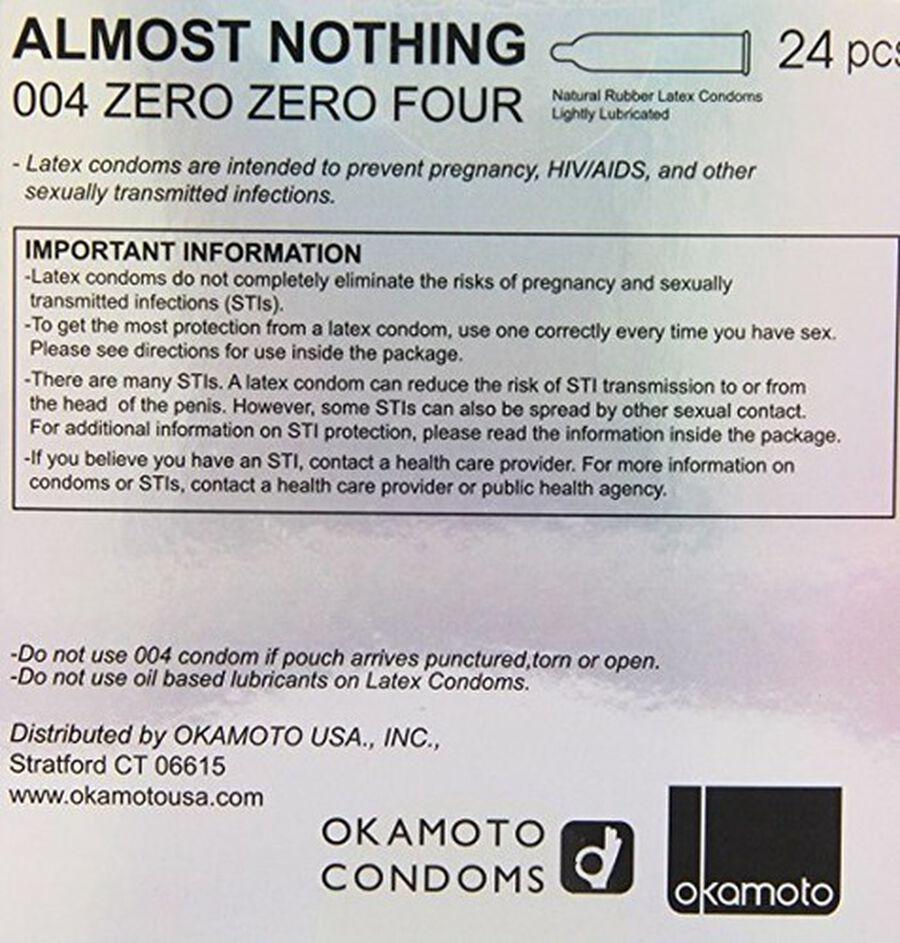 Okamoto .04 mm Zero Zero Four Condoms, 24 ct, , large image number 1