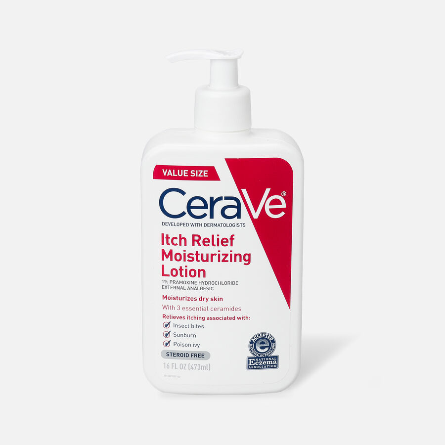 CeraVe Moisturizing Lotion for Itch Relief, 16 oz, , large image number 0