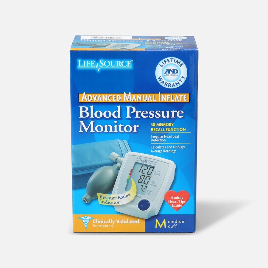 A&D Medical UA-705V Advanced Manual Inflate BP Monitor with Medium Cuff, , large image number 1