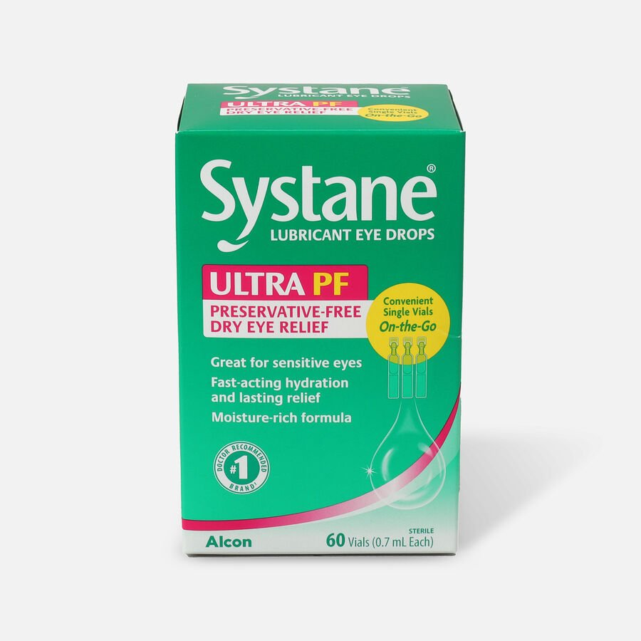 Systane Ultra Preservative Free Lubricant Eye Drops, 60 ct, , large image number 0