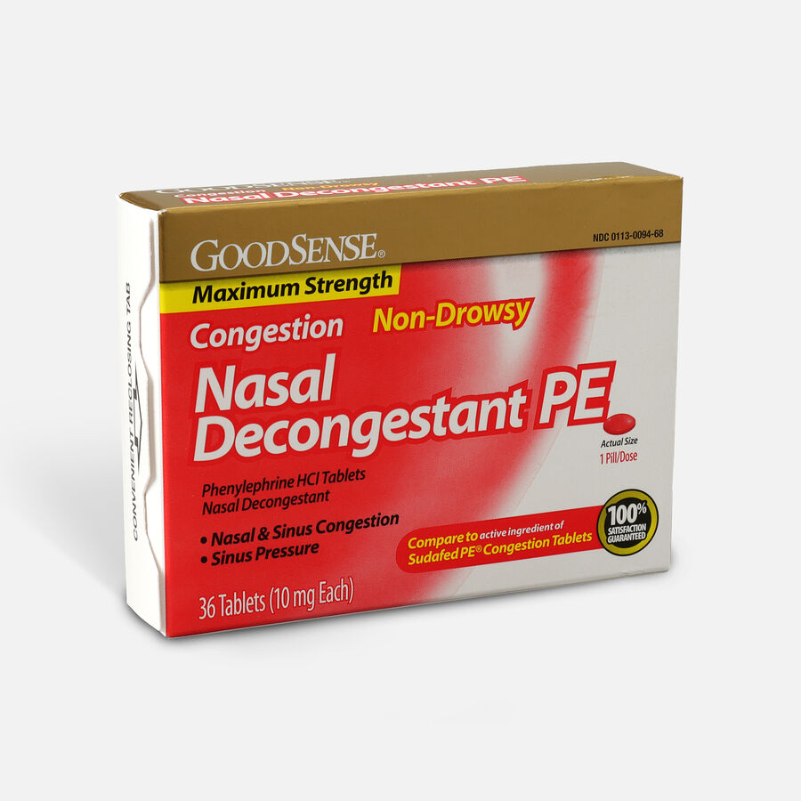 GoodSense® Nasal Decongestant PE 10 mg Non Drowsy Tablets, , large image number 2