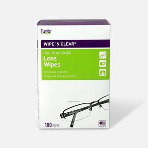 Flents Wipe 'N Clear Pre-moistened XL Lens Wipes, 100 ea