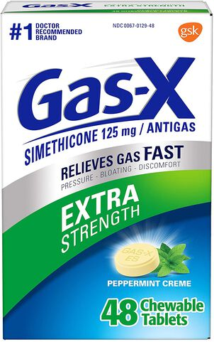 Gas-X Extra Strength Peppermint Chewable Tablet, For Fast Relief From Gas, Bloating & Discomfort, 48 ct