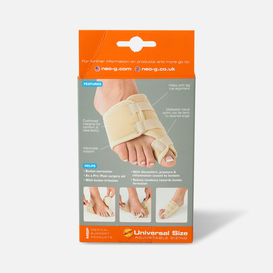 Neo G Bunion Correction System, Hallux Valgus Soft Support, One Size, Right, , large image number 1