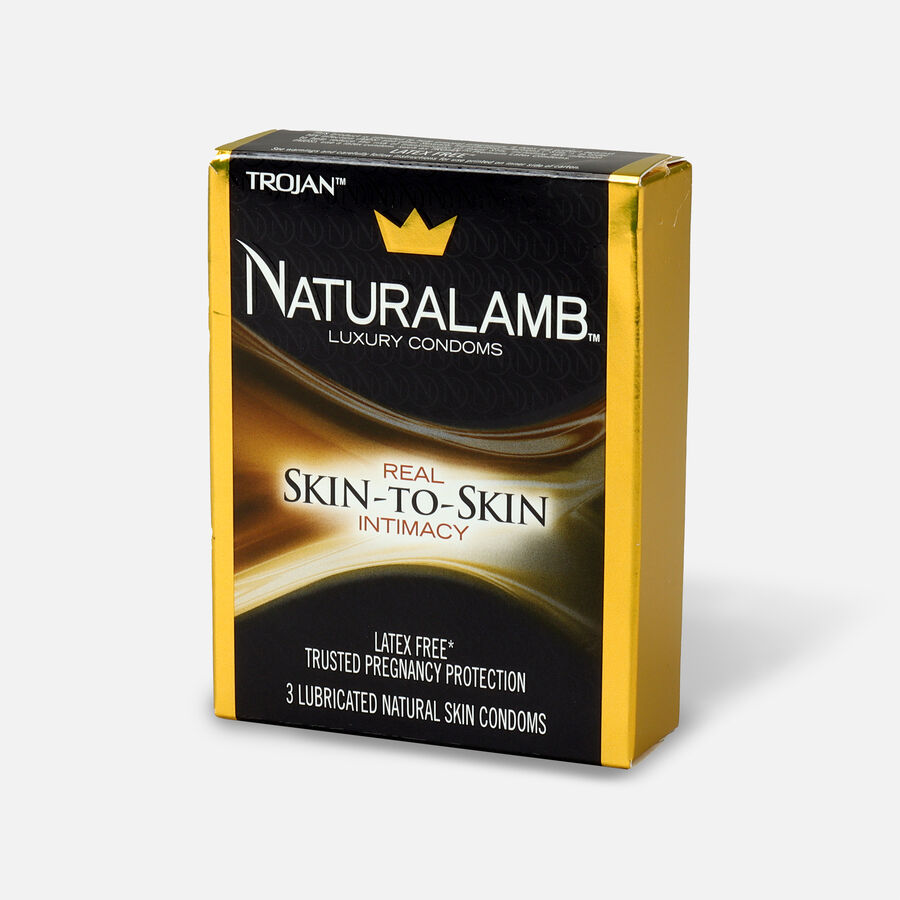 Trojan Condoms Trojan Naturalamb Skin 3 Pack Condoms, , large image number 2