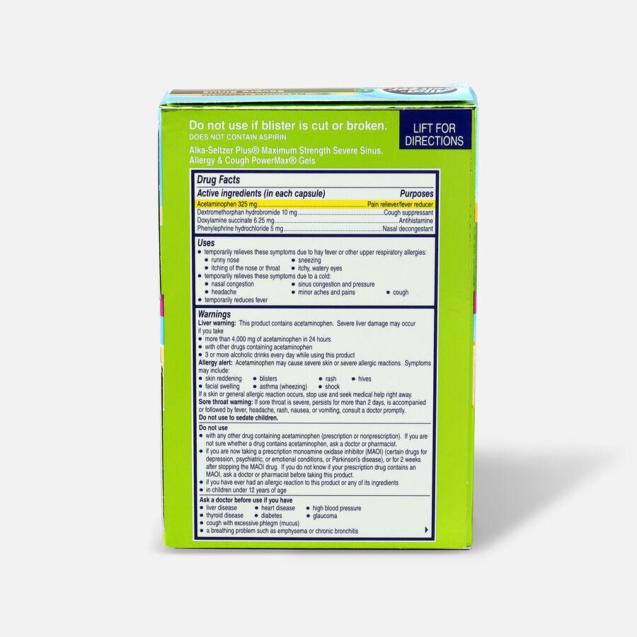 Alka-Seltzer Plus PowerMax Gels, Severe Sinus, Allergy & Cough, 24ct, , large image number 1