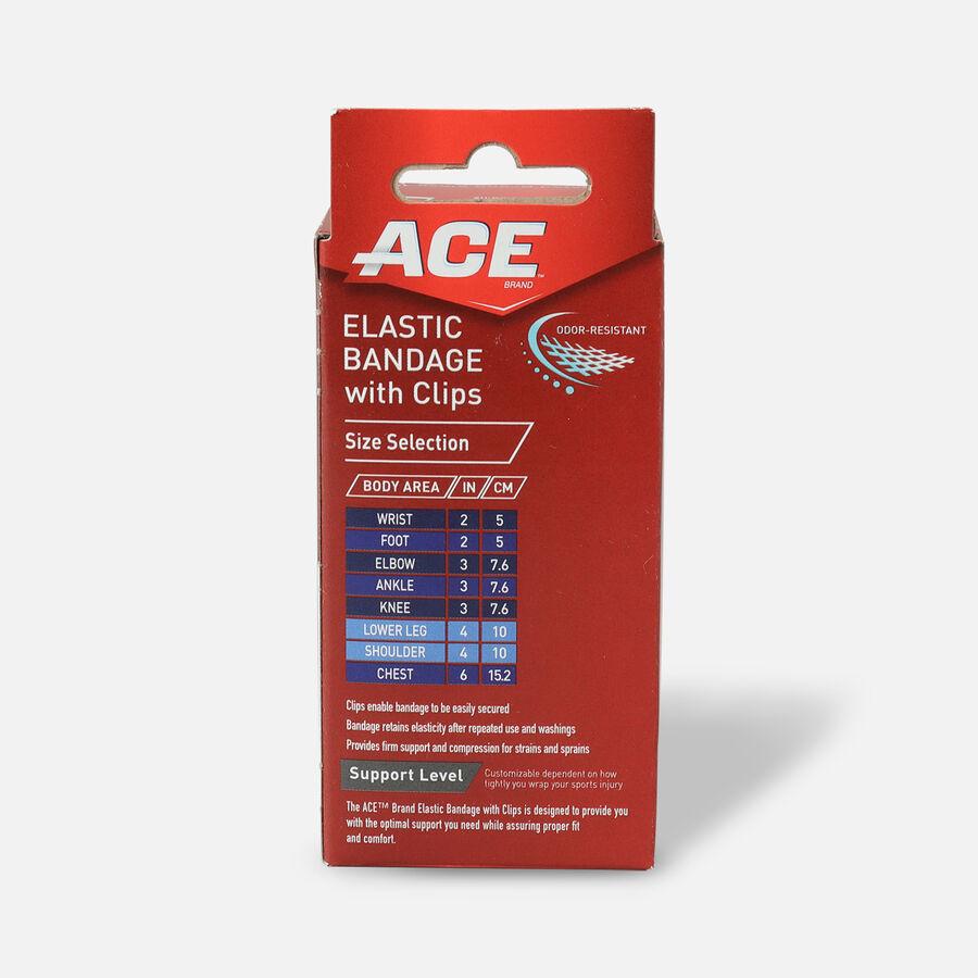 Ace Elastic Bandage with Clips - Black, , large image number 6