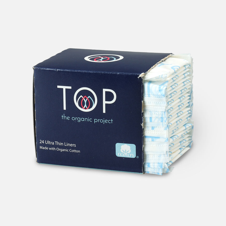 TOP Organic Cotton Ultra Thin Panty Liners, Light, 24 ct, , large image number 2