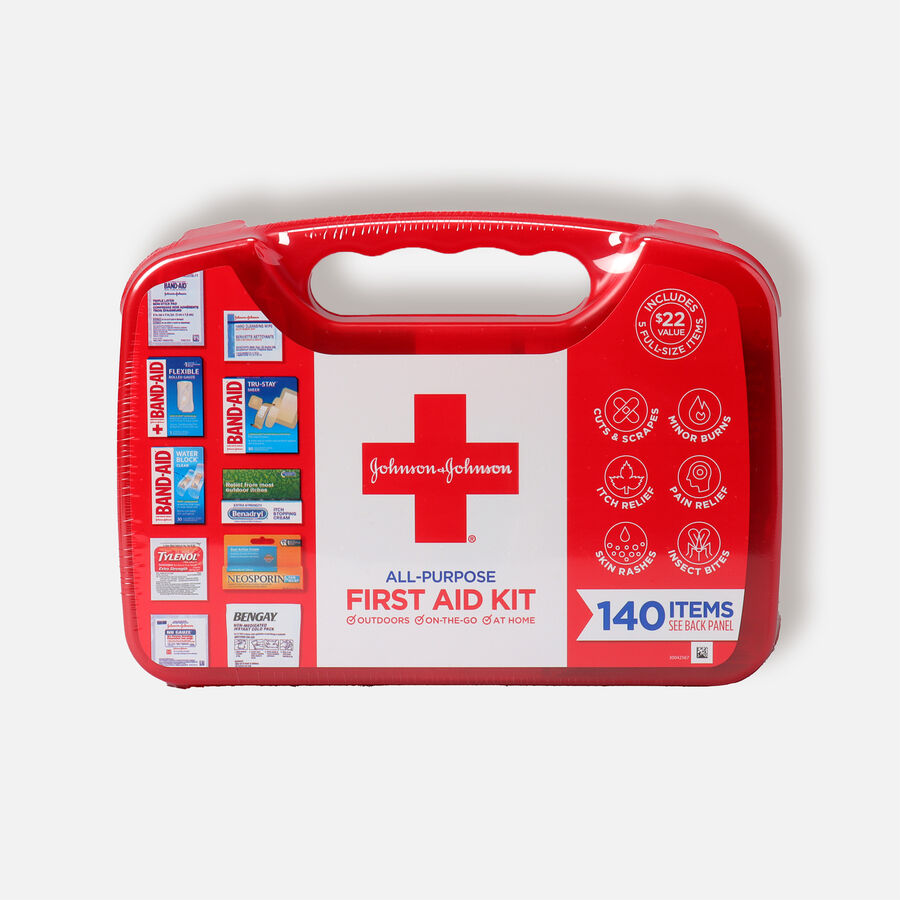Johnson & Johnson Red Cross® All Purpose First Aid Kit, 140 Items, , large image number 0