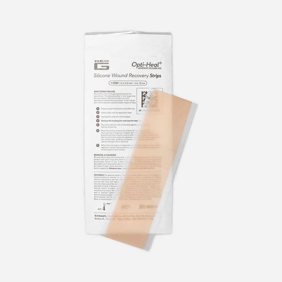 """Neo G Silicone Wound Recovery Strips, 1.6""""x 5.9"""" – 6 ct, , large image number 1"""