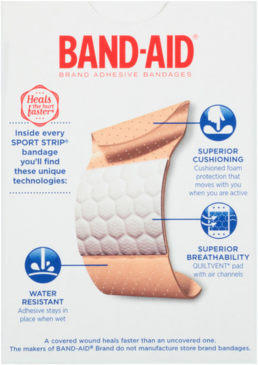 Band-Aid Sport Strip, Extra Wide, 30 ea, , large image number 1