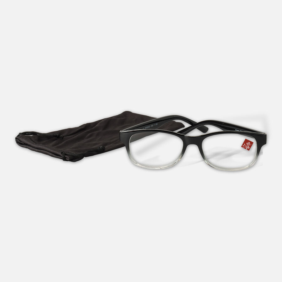 Today's Optical Frame, Black with Transparent Accents, , large image number 1