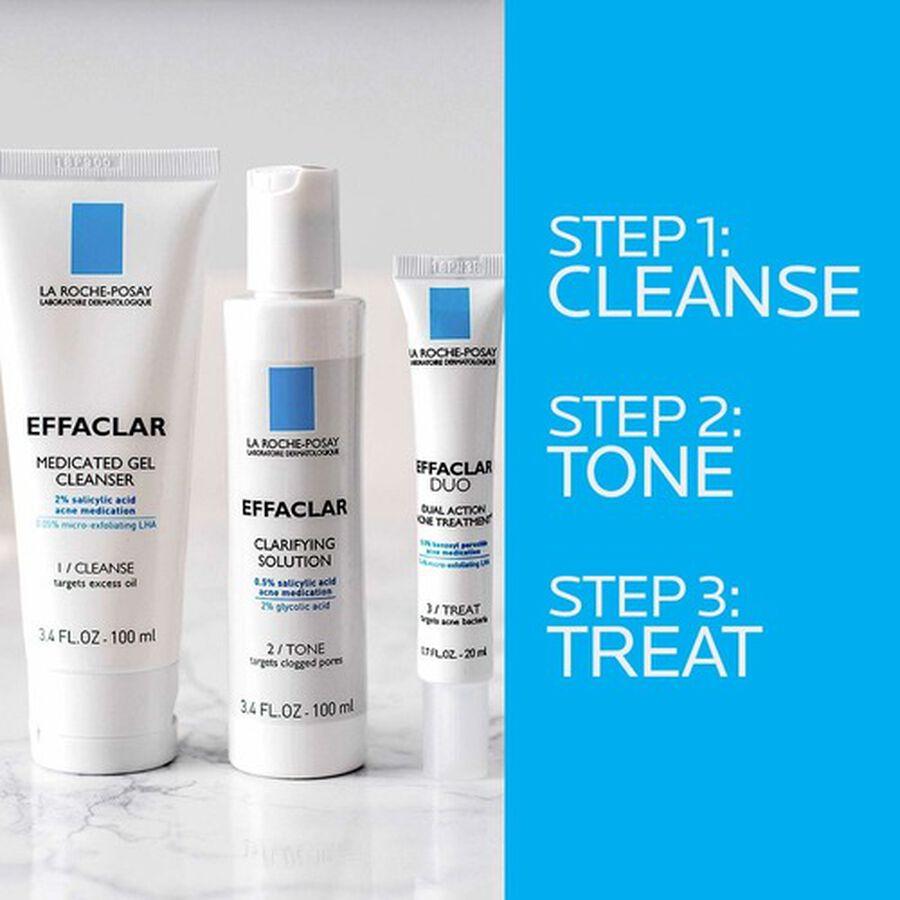 La Roche-Posay Effaclar Dermatological 3-Step Acne Treatment System, , large image number 4