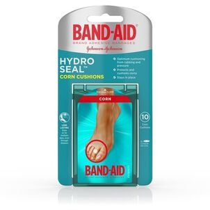 Band-Aid Hydro Seal Corn Cushion Bandages, Waterproof Corn Pads, Medium, 10 ct