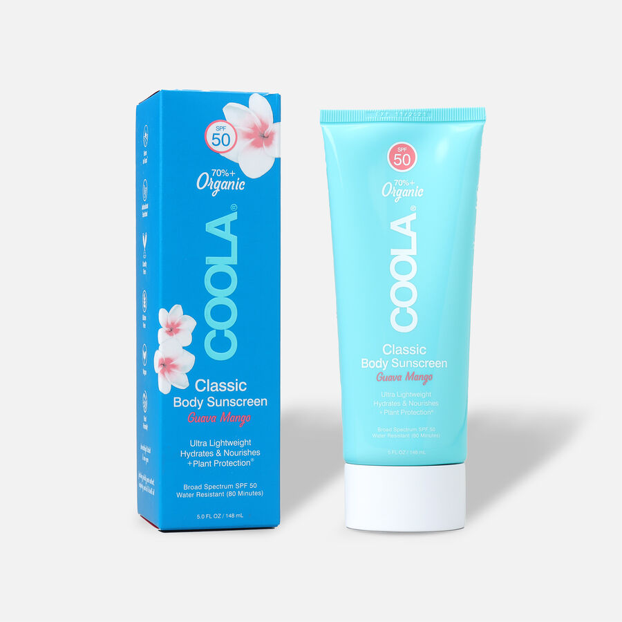 Coola Classic Body Organic Sunscreen Lotion SPF 50, Guava Mango, 5oz, , large image number 0