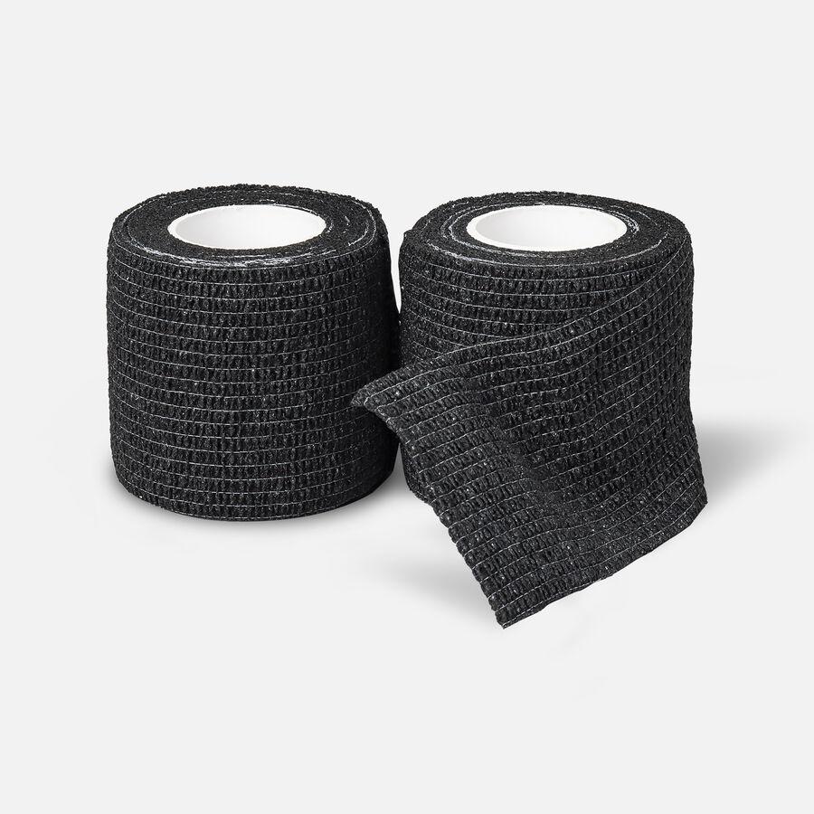 Sensiv Self-Adhering Elastic Sports Wrap, Black, 2 pack, , large image number 1