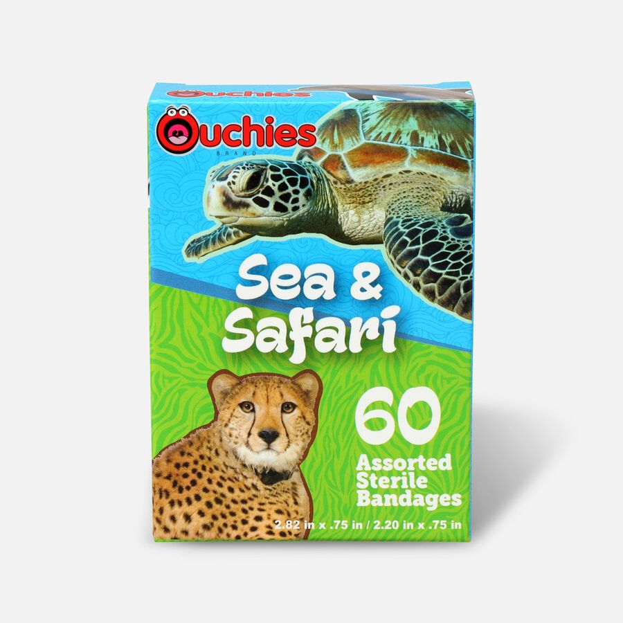 Ouchies Sea and Safari Bandages, 60ct, , large image number 0