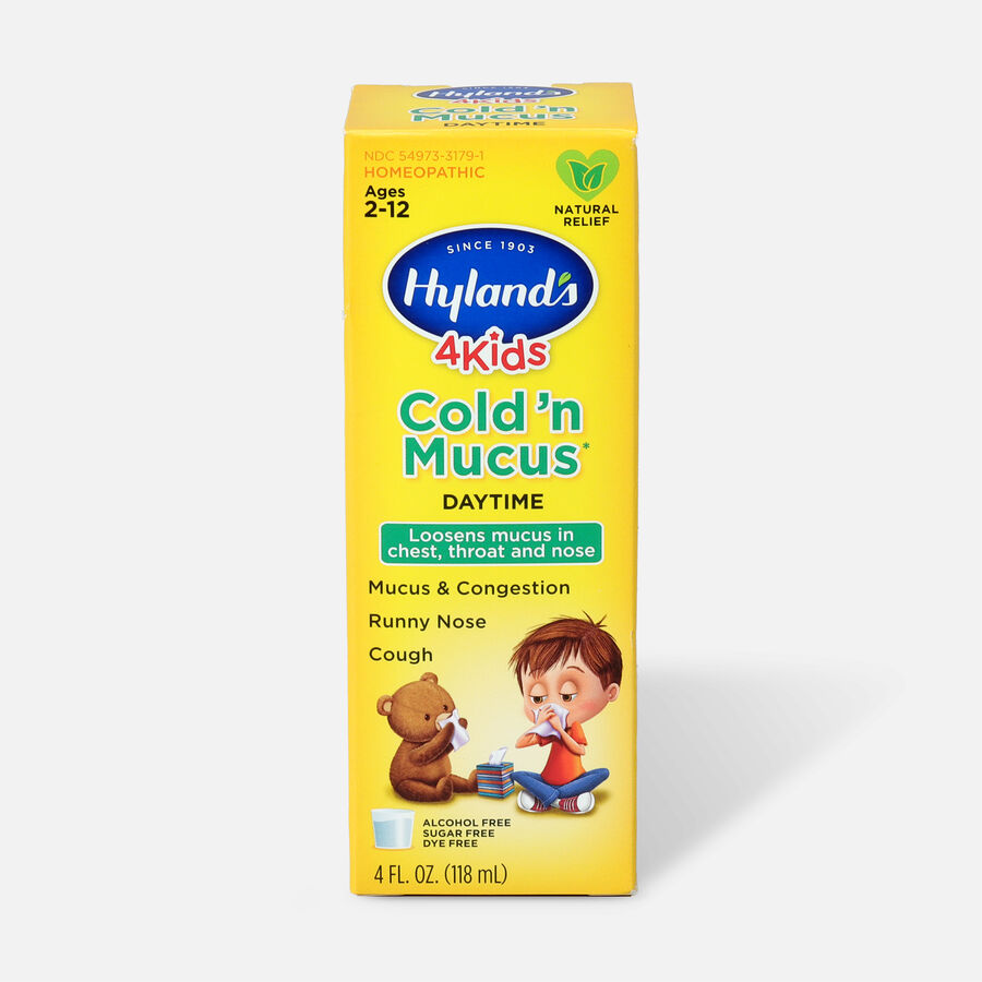 Hyland's 4 Kids Cold 'n Mucus, Daytime, 4 oz, , large image number 0