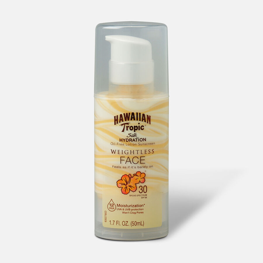 Hawaiian Tropic Silk Hydration Weightless Oil-Free Face Sunscreen SPF 30, 1.7 oz, , large image number 0