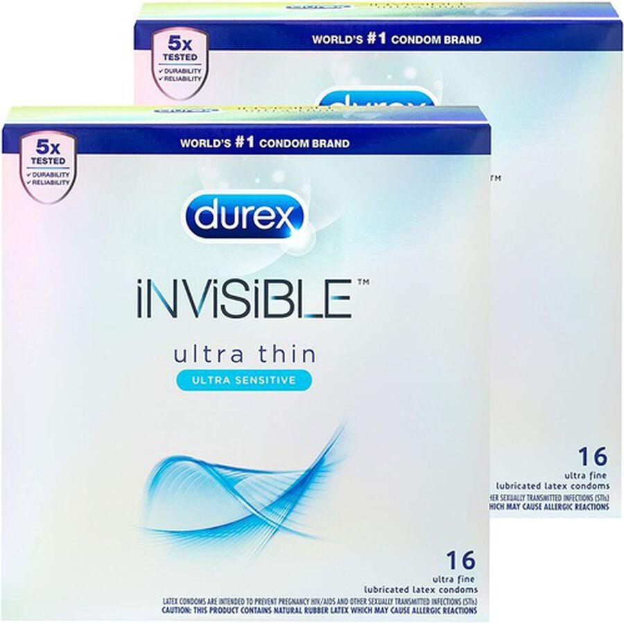 Durex Invisible Condom Bundle Pack, 32 ct, , large image number 0