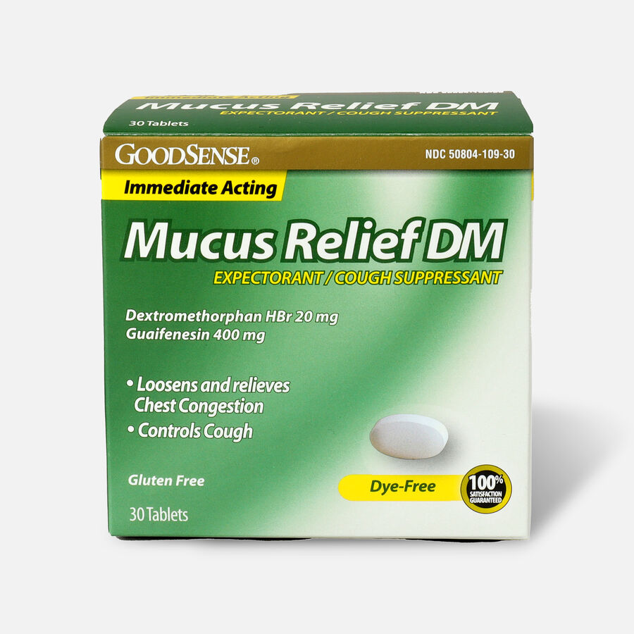 GoodSense® Immediate Acting Mucus Relief DM Tablets, 400 mg/20 mg, 30 ct, , large image number 0