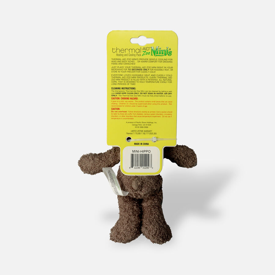 Thermal-Aid Mini Zoo Hippo Hot and Cold Pack, , large image number 1