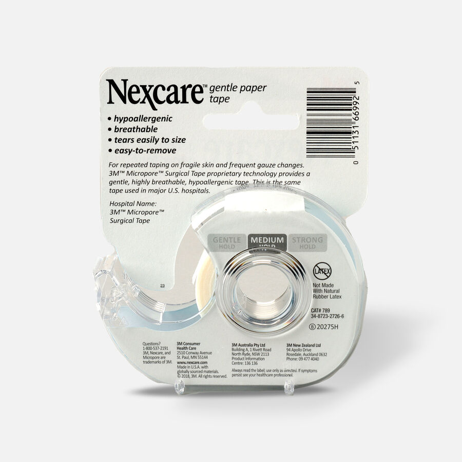Nexcare First Aid Tape with Dispenser, Gentle Paper, 3/4 in. x 8yds - 1ct, , large image number 1