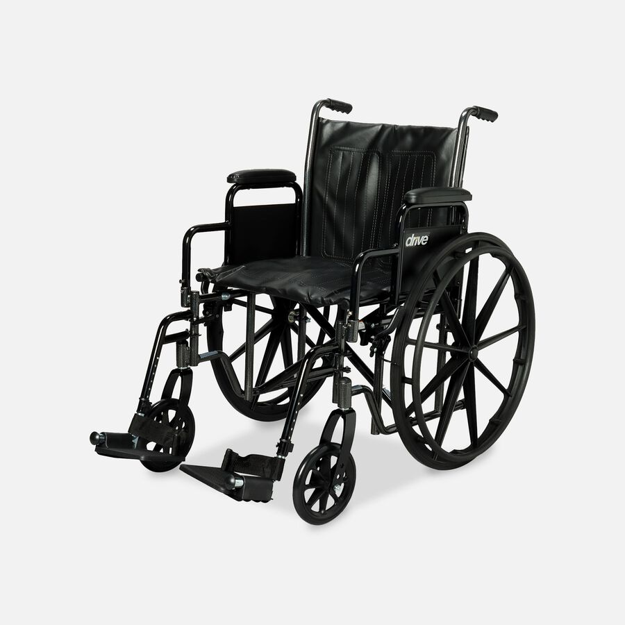 Drive Silver Sport 2 Wheelchair, Swing Away Footrests, , large image number 1