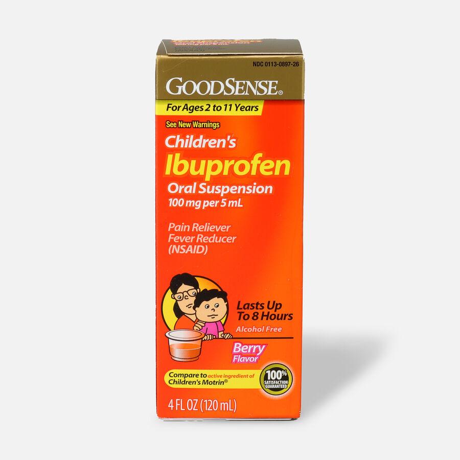 GoodSense® Children's Ibuprofen 100 mg/5 ml Oral Suspension Berry, 4 fl oz, , large image number 0
