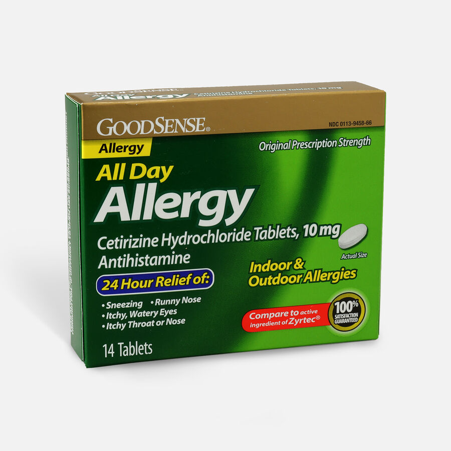 GoodSense® All Day Allergy Relief, Cetirizine HCl Tablets 10 mg, , large image number 2