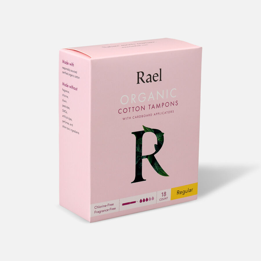 Rael Organic Cotton Tampons with Cardboard Applicator, , large image number 2