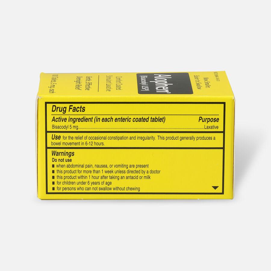 Alophen Bisacodyl Laxative Tablets, 5mg, 100 ct, , large image number 1