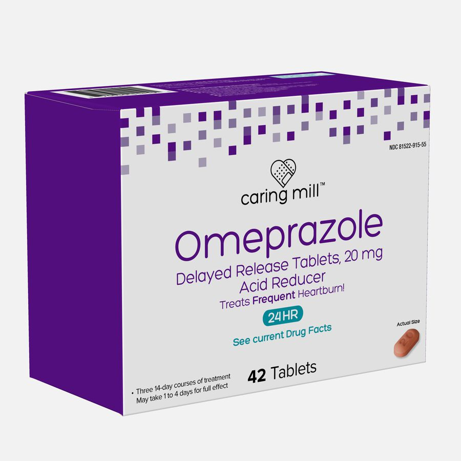 Caring Mill™ Omeprazole Delayed Release Tablets, 42 ct, , large image number 2