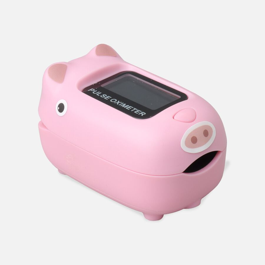 Caring Mill® Pediatric Oximeter-PINK PIG, , large image number 0