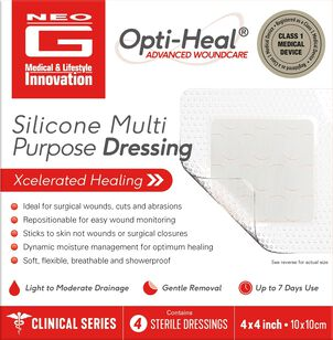 Neo G Silicone Multi Purpose Dressing – 4ct
