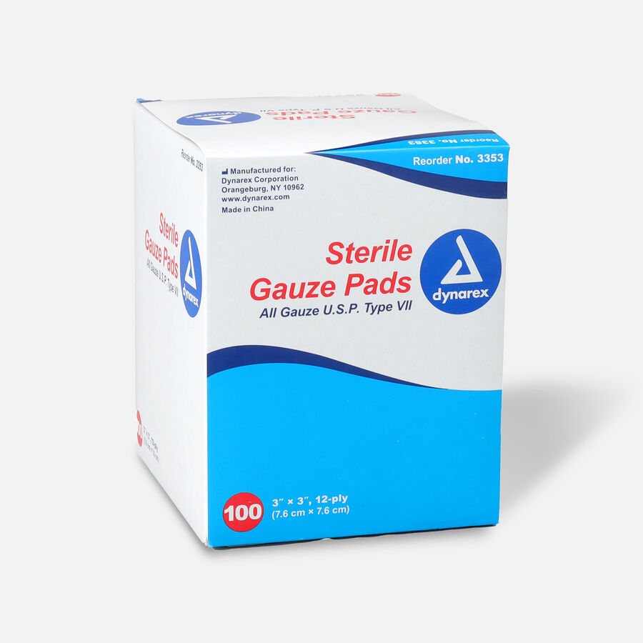 Dynarex Sterile Gauze Pads,12 ply - 100ct, , large image number 1